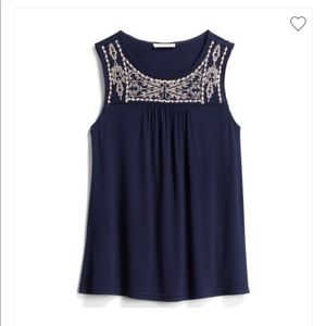 Stitchfix Skies are Blue Embroidered Knit top SM